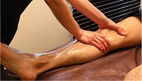 両側から流して脚むくみを改善